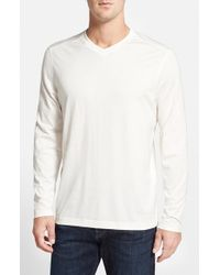 Tommy Bahama - Natural 'vacanza' Long Sleeve V-neck T-shirt for Men - Lyst