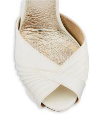 Adrianna Papell | White Rebecca Peep Toe Platform Stilettos | Lyst