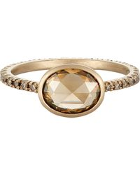Anaconda - Metallic Mixed Diamond Ring - Lyst