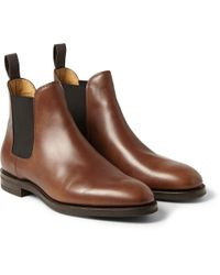 John Lobb | Brown Misty Leather Chelsea Boots for Men | Lyst