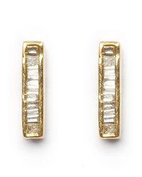 Maiyet - Metallic Baguette Bar Stud Earrings - Lyst