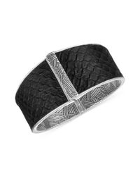 The Sak - Metallic Silvertone Python Leather Hinge Bangle Bracelet - Lyst
