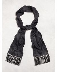 John Varvatos | Black Silk Dotted Scarf for Men | Lyst