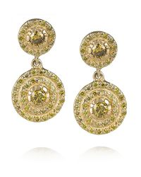 Ileana Makri | Metallic Diamond Art Deco Style Earrings | Lyst