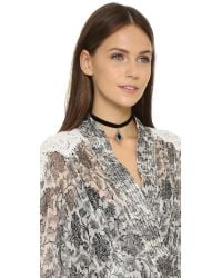 Vanessa Mooney | My Cherie Choker Necklace - Black/silver | Lyst