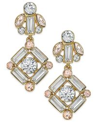 kate spade new york | Metallic 14k Gold-plated Crystal Drop Earrings | Lyst