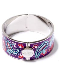Liberty | Purple Denby Paisley Multicolour Thick Cuff | Lyst
