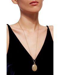 Monica Rich Kosann | Metallic 18k Yellow Gold Bespoke Locket With Diamond Initial | Lyst