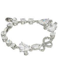 Betsey Johnson - Metallic Cz Rhinestone Stretch Bracelet - Lyst