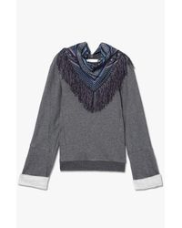 Derek Lam | Gray Scarf Detailed Sweatshirt | Lyst