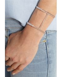 Jennifer Fisher | Pink Single Bar Rose Goldplated Cuff | Lyst