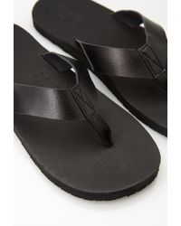 Forever 21 | Black Faux Leather Thong Sandals for Men | Lyst