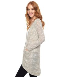 Splendid | Natural Upstate Circle Cardigan | Lyst