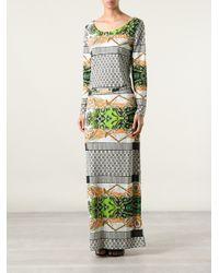 Etro | Black Printed Silk Tunic-dress | Lyst