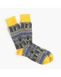 J.Crew | Yellow Corgi Lightweight Pattern Socks for Men | Lyst