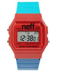 Neff | Blue 'flava Xl' Digital Watch for Men | Lyst