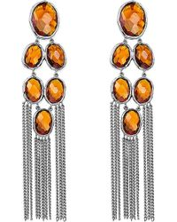 Gucci | Orange Raindrop Sterling Silver Drop Earrings | Lyst
