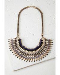 Forever 21 - Metallic Bib Statement Necklace - Lyst