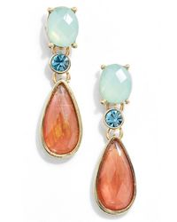 Anne Klein | Multicolor Drop Earrings - Papa Multi/ Gold | Lyst