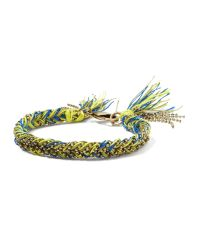 Banana Republic - Yellow Woven Friendship Bracelet - Lyst