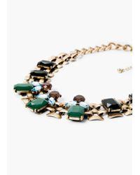 Mango   Blue Crystal Necklace   Lyst
