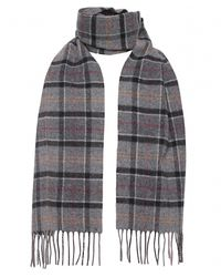 Barbour - Gray Classic Tartan Lambswool Scarf for Men - Lyst
