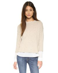 Brochu Walker | Natural Looker Crew Layered Sweater | Lyst