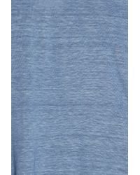 120% Lino - Blue V-neck T-shirt - Lyst