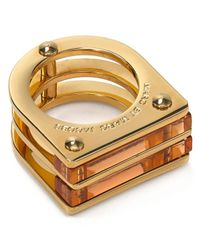 Marc By Marc Jacobs - Metallic Windows Ring - Lyst
