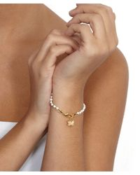 Astley Clarke | Metallic Gold-plated Lotus Friendship Bracelet | Lyst