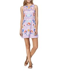 Cynthia Rowley | Purple Embroidered Floral A-line Dress | Lyst