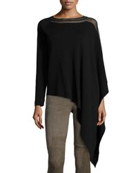 Elie Tahari - Black Amada Draped Sweater - Lyst