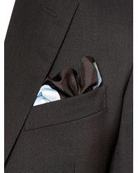 Lanvin - Gray Grained Leather Cardholder for Men - Lyst
