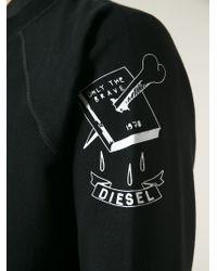 DIESEL - Black 'S-Eleni' Sweatshirt for Men - Lyst