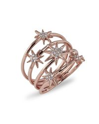 Anne Sisteron | Metallic 14kt Rose Gold Diamond Fireworks Ring | Lyst