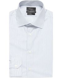 Paul Smith | Blue Striped Soho-fit Cotton Shirt for Men | Lyst