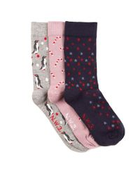 Hobbs - Blue Christmas Boxed Sock - Lyst