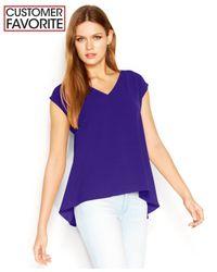 RACHEL Rachel Roy | Purple High Low Sydney Top | Lyst