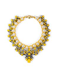 Shourouk | Yellow Marisa Necklace in Safran | Lyst