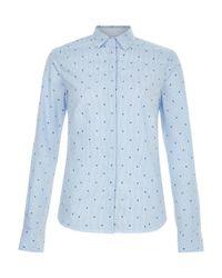 Hobbs   Blue Megan Shirt   Lyst