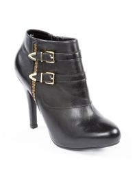Me Too - Black Lennon Soft Vachetta Platform Stiletto Booties - Lyst