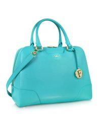 Furla - Metallic Dolly Medium Laguna Leather Satchel - Lyst