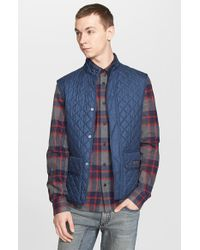 Belstaff | Blue Technical Quilted Vest for Men | Lyst