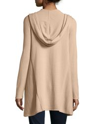 Neiman Marcus - Black Cashmere Hooded Open-front Cardigan - Lyst