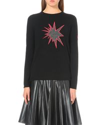 Bella Freud | Black Deep Star Wool Jumper | Lyst