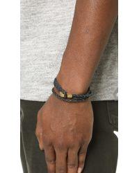 Miansai - Black Ipsum Leather Wrap Bracelet for Men - Lyst