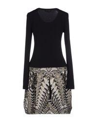 Roberto Cavalli - Black Short Dress - Lyst