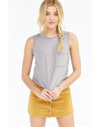 Truly Madly Deeply - Natural Pocket Muscle Tank Top - Lyst