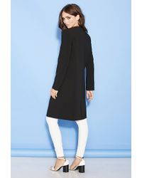 Forever 21 | Black Collarless Crossover Coat You've Been Added To The Waitlist | Lyst