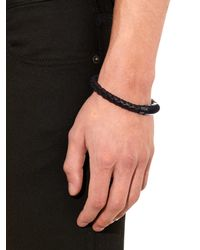 Bottega Veneta | Brown Intrecciato Leather Bracelet for Men | Lyst